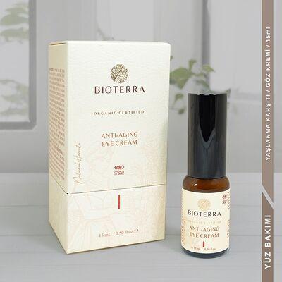 BİOTERRA - Bioterra Organik Anti Aging Eye Krem 15 ml (Yaşlanma Karşıtı Göz Kremi)